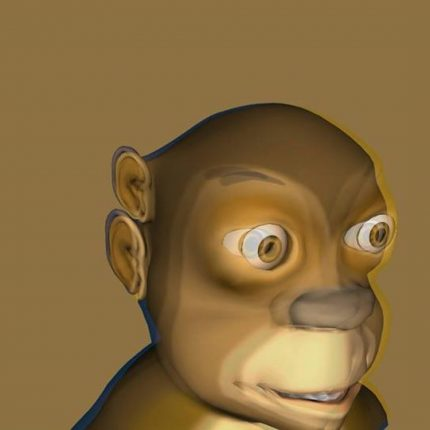 Image for 'Originally Inclusive'. Courtesy of Shen Xin. Image shows a computer generated monkey.