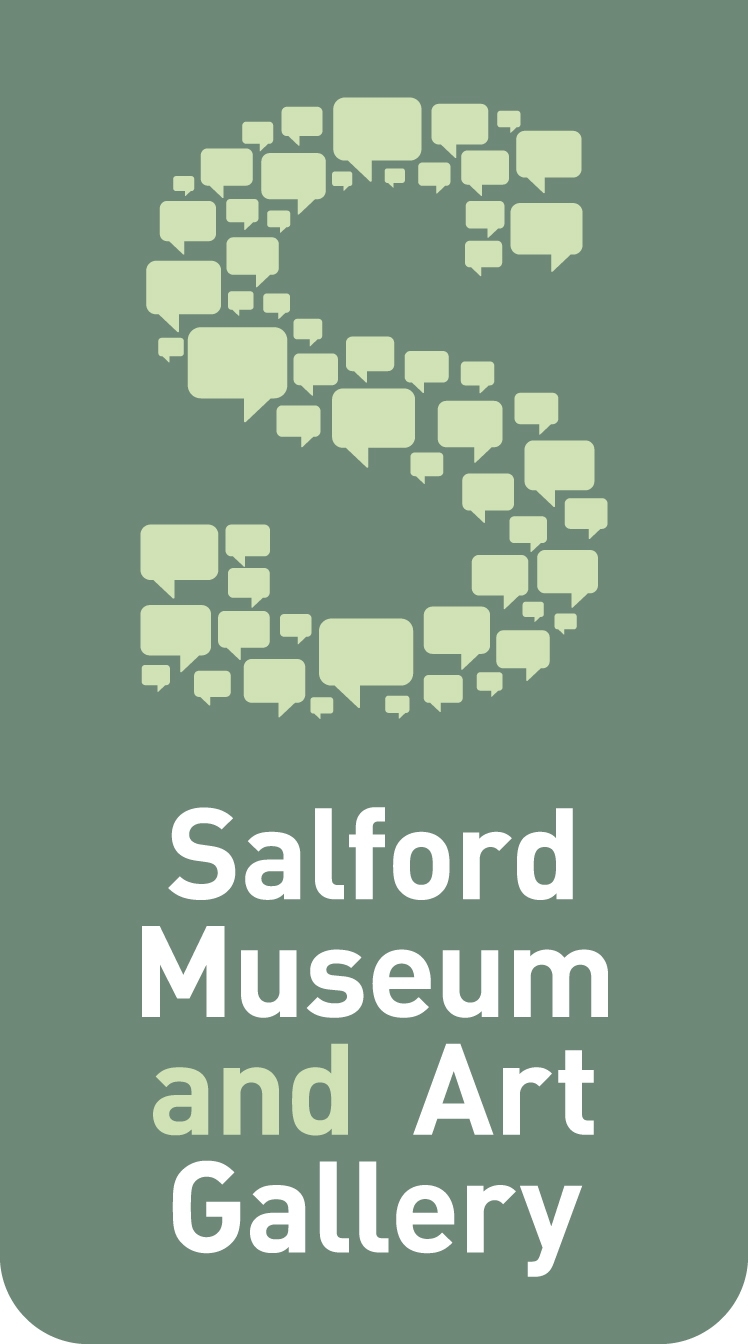 Logo with large S with Salford Museum and Art Gallery written underneath